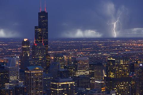 Skyline Chicago Storm